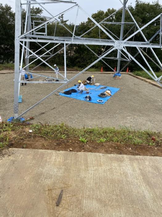 リニア関連の鉄塔建て替え工事